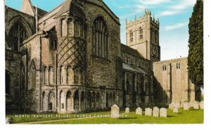 Post Card Dorset CHRISTCHURCH Priory Church North Transept Salmon Cameracolour 1