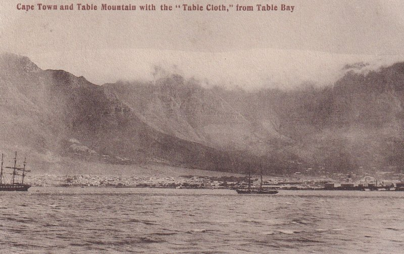 CAPE TOWN, South Africa, 1900-1910's; Cape Town And Table Mountain With The ...