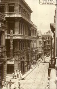 Santiago Cuba Jose A Saco Street Used RPPC From Spanish American War Vet spg
