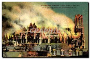Old Postcard The Cathedral Of Reims Photo Taken September 19, 1914 Militaria