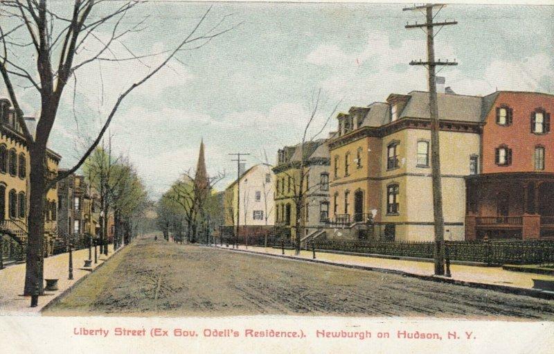 NEWBURGH ON HUDSON , New York , 1900-10s ; Liberty Street