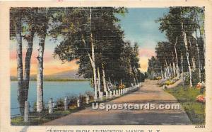 Greetings from Livingston Manor NY Unused