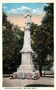 Massachusetts Wenham Soldiers Monument 1919