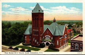 North Carolina Greensboro West Market Street Methodist Church 1941 Curteich