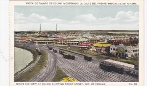 REPUBLIC OF PANAMA, 1910-1920s; Bird's Eye View Of Colon, Showing Front Stree...