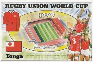 Tonga Bristol Ashton Gate Stadium Map Rugby World Cup Uniform Postcard