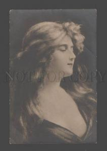 096542 BELLE Woman LONG HAIR by Angelo ASTI vintage Russian PC