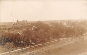Mineota MN Old School~Churches~Homes~Birdseye Sepia RPPC c1907