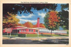 Lisbon Ohio c1952 Postcard The McKinley Grade School