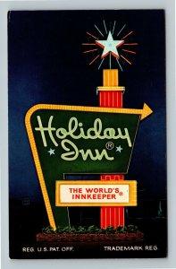 Princeton WV, Holiday Inn Marque, Chrome West Virginia Postcard