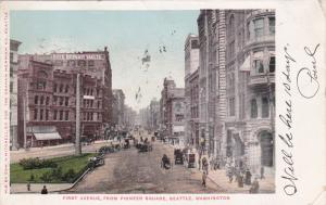 SEATTLE, Washington, PU-1907; First Avenue, from Pioneer Square