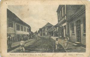 Bosnia Herzegovina Bosanski Brod Gruss aus animated street rare postcard