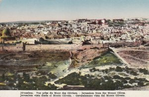 JERUSALEM, Israel, 1900-1910s; Jerusalem From The Mount Olives