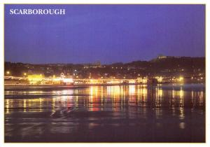 Postcard SCARBOROUGH South Bay at Night, North Yorkshire D27