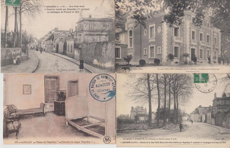 HOUSES OF FAMOUS PEOPLE MAISONS DE CÉLÉBRITÉS FRANCE 350 CPA (mostly pre-1940)