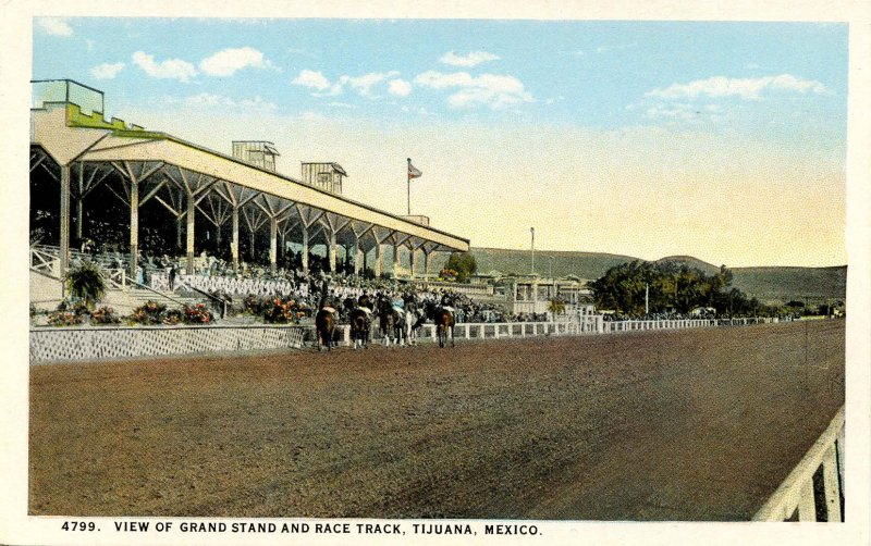 Mexico - Tijuana. Grand Stand and Race Track