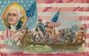 George Washington Crossing the Delaware, American Flag, PU-1908; TUCK #124