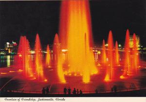 Friendship Fountain at Night Jacksonville Florida