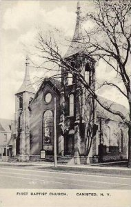 New York  Canisteo First Baptist Church Albertype