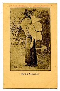 Mexico - Tehuacan. Lady in Native Dress