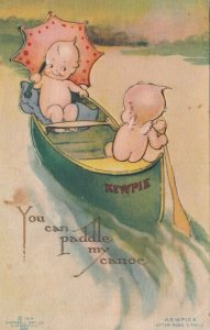Kewpies ; You Can Paddle my Canoe , 1910 ; KLEVER Card, Easel type ; AS O'Neill