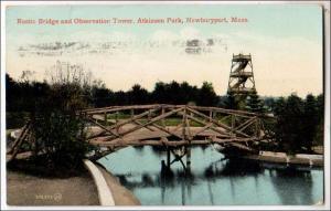 Rustic Bridge & Observation Tower, Newburyport MA