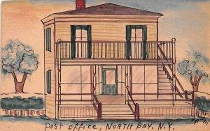 Post Office North Bay, New York Postcard