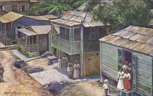 Puerto Rico Cayey Village Scene 1912 Tucks