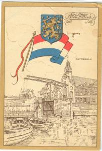 Netherlands, Greetings from Holland, Rotterdam, Postcard