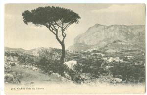 Italy, Capri, Vista da Tiberio, 1914 used Postcard