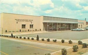 Wheeling, WV Post Office, Zip Code 26003, Old Cars Dexter Postcard