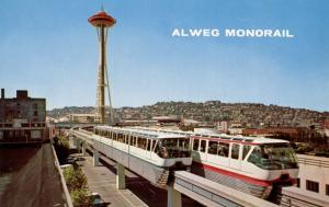 WA - Seattle, 1962. Seattle World's Fair (Century 21 Exposition). Alweg Monorail
