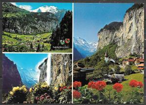 Switzerland, Lauterbrunnen (Berner Oberland) multiview, unused
