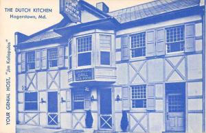 Hagerstown Maryland The Dutch Kitchen Charcoal Grill Seafood  Postcard JC933047