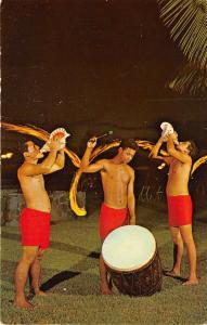 Kailua Kona Hawaii 1968 Postcard Kona Inn Torch Lighting