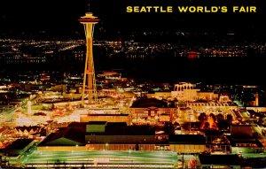 Washington Seattle World's Fair Grounds At Night