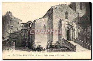 Old Postcard Environs Arles Les Baux Roman Church (XVI century)