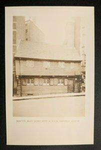 Mint Vintage Boston Massachusetts Paul Revere House Real Picture Postcard