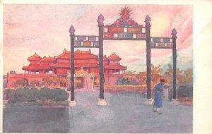 Avenue d'honneur dans le palais Vietnam, Viet Nam Unused