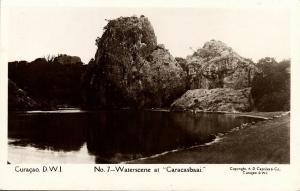 curacao, D.W.I., WILLEMSTAD, Waterscene at Caracasbaai (1920s) Capriles  RPPC 7