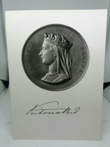 Vintage Rp Postcard Victoria Medal 1837 -1901 by JS & AB Wyon The British Museum