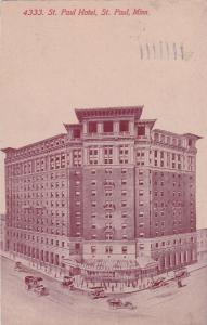 ST. PAUL, Minnesota, PU-1912; St. Paul Hotel
