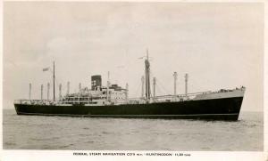 Federal Steam Navigation Co. - MV Huntingdon   *RPPC