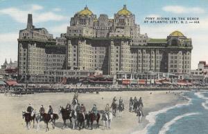ATLANTIC CITY , New Jersey , 30-40s; Pony Riding on the Beach