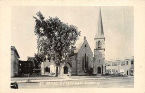 RPPC St. James Episcopal Church Old Cars Real Photo ca 1950s Vintage Postcard