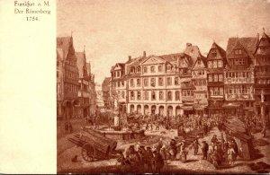 Germany Frankfurt am Main Der Roemerberg Grand Hotel Frankfurter Hof Circa 1754