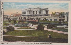 BALTIMORE MD - UNION STATION + SUNKEN GARDENS 1910s era