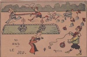 Humour Children Playing In Garden 10 Ans Le Jeu