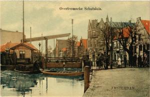 CPA AMSTERDAM Overtoomsche Schutsluis NETHERLANDS (605136)