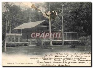 Old Postcard Saigon Cage Fauves Botanical Garden Mottet and publishers Saigon